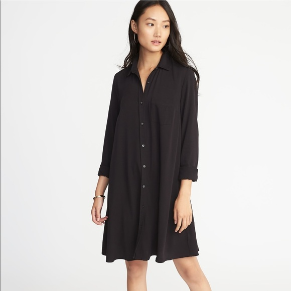 2e5d5c1c46f5 Old Navy Dresses | Swing Shirt Dress Blackjack M | Poshmark